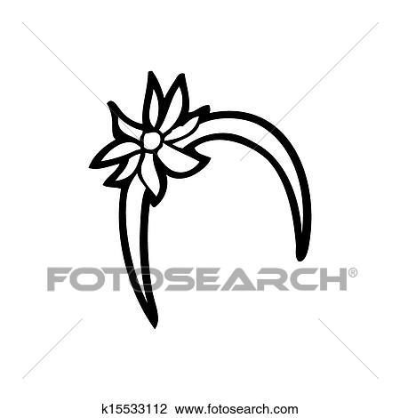 Alice Faixa Cabelo Caricatura Desenho K15533112 Fotosearch