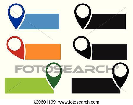 Diagramm Stift Landkarte Markierung Vector Pfeil Zeiger