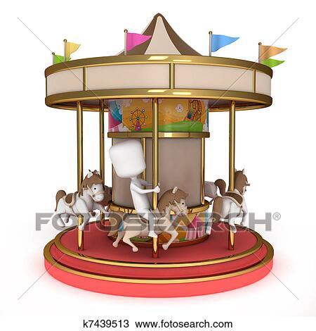 Carrousel Dessin dessin - homme, carrousel k7439513 - recherchez des cliparts, des