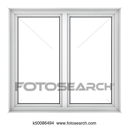 Drawings of Plastic window frame k50086494 - Search Clip Art ...