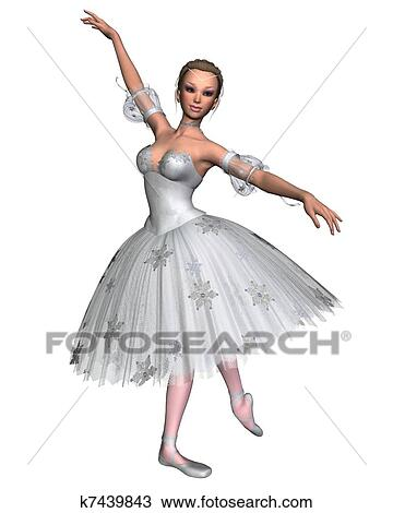the latest b53b4 bb8f8 Snowflake Ballerina - 1 Drawing