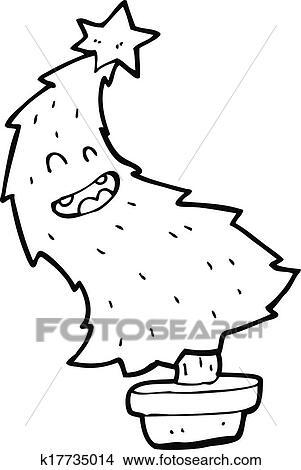 Christmas Dancing Cartoon.Cartoon Dancing Christmas Tree Clipart