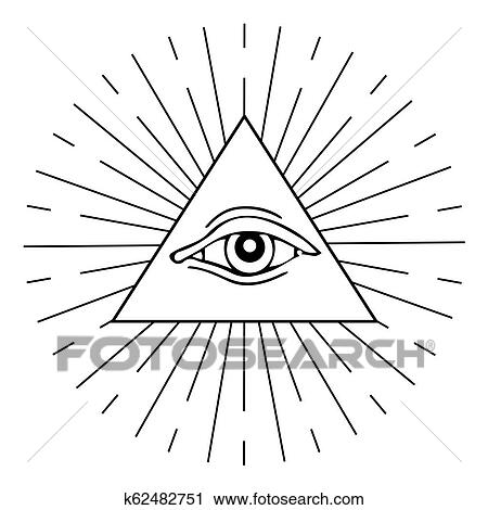 Clipart Of Eye Of Providence K62482751