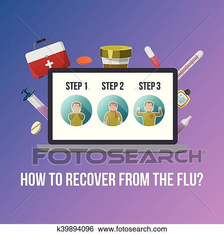 clip art of flu symptoms poster k39894096 search clipart