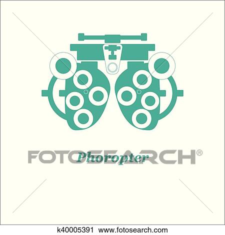 Illustration of phoropter  Vector  Optician, ophtalmology, vision  correction, eye test, eye care, eye diagnostic Clipart