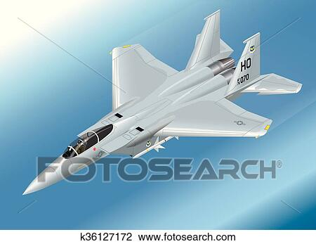 Origami F-15 Eagle Jet Fighter-Flugzeug Auf Weißem Hintergrund ... | 347x450