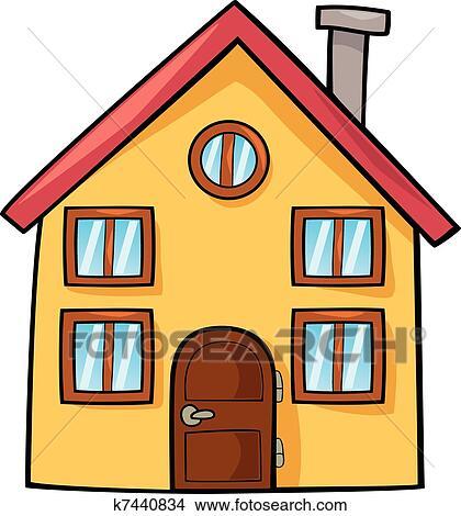 Clipart Lustig Haus K7440834 Suche Clip Art Illustration