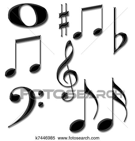 Stock Illustration Of Music Notes Symbols K7446985 Search Clipart