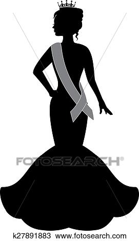 Clipart Of Queen Of Beauty K27891883