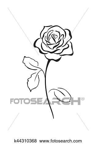 Rose flower vector icon Clip Art