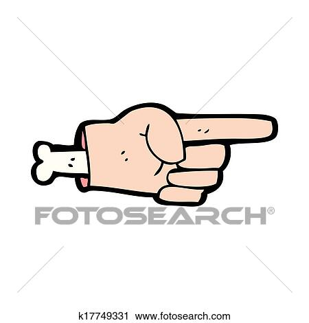cartoon pointing hand symbol clip art k17749331 fotosearch fotosearch