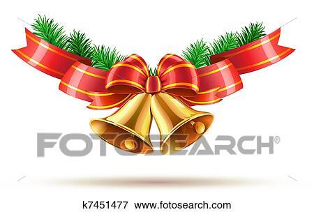 Christmas Bell.Christmas Bells Standartinė Iliustracija