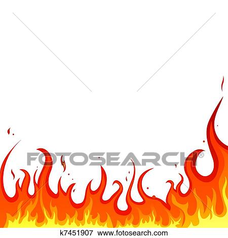 clip art of fire flames k7451907 search clipart illustration