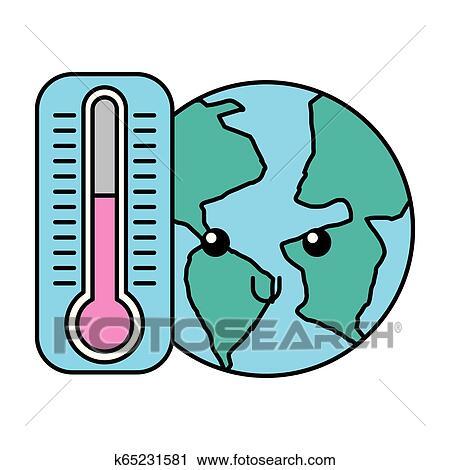 Kawaii Mundo Y Termometro Caricatura Clipart K65231581 Fotosearch Tescoma termometro alimenti termometro digitale per alimenti. kawaii mundo y termometro caricatura clipart