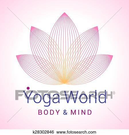 Clip Art Of Lotus Flower As Symbol Of Yoga K28302846 Search