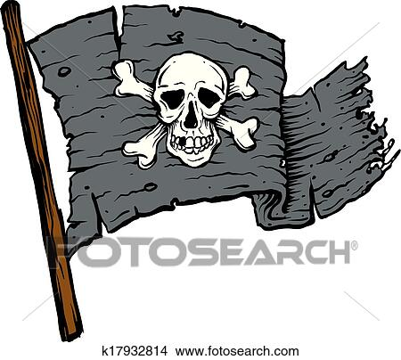 clipart of pirate flag with skull k17932814 search clip art