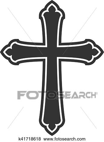 Clip Art Of Symbol Of A Church Cross Christianity Religion Symbol