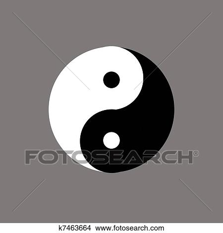 Drawings Of Chinese Symbol Of Yin Yang K7463664 Search Clip Art
