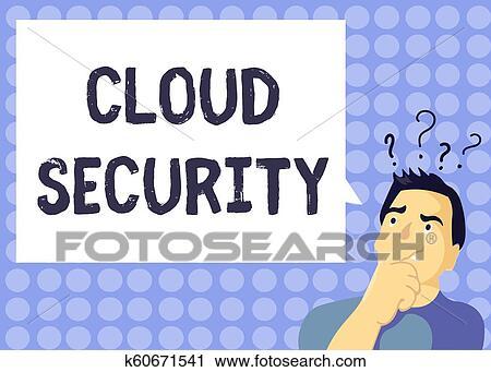 Handschrift, text, schreibende, wolke, security., begriff