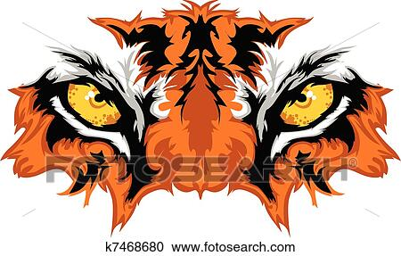 Tiger Eyes Mascot Graphic Clipart K7468680