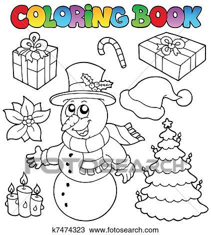 Clipart Ausmalbilder Weihnachten Topic 2 K7474323 Suche Clip