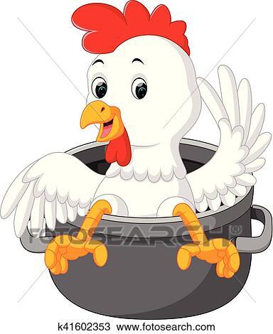 Dessin Animé Poule clipart - poulet, dessin animé k41602353 - recherchez des clip arts