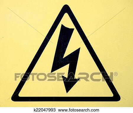 Drawing Of Sign Of Danger High Voltage Symbol K22047993 Search