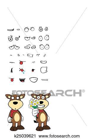 Taureau Rigolote Dessin Anime Expression Set10 Clipart