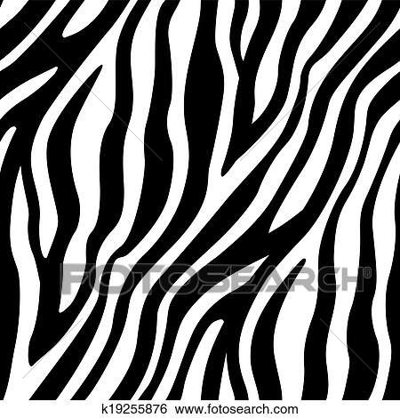 Clip Art Of Zebra Stripes Seamless Pattern K19255876