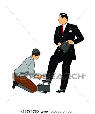 Klipart Ayakkabı Boyama Erkek çocuk K16781760 Clipart Duvar