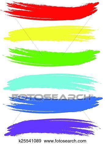 clip art of colored brush strokes k25541089 search clipart rh fotosearch com brush stroke cross clipart brush stroke clipart