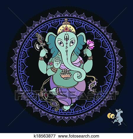 ganesha main dessiné illustration clipart  k18563877