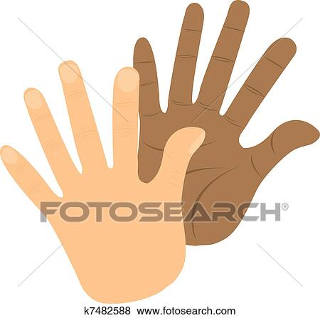 clip art of hi 5 k7482588 search clipart illustration posters