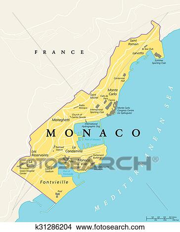 Map Of France French Riviera.Monaco Political Map Iskarpa