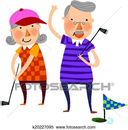 clipart of the view of old couple k20227095 search clip art rh fotosearch com old age couple clipart happy old couple clipart