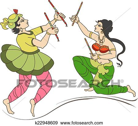 clip art of garba indian dance k22948609 search clipart rh fotosearch com clip art indian bears clip art indians