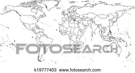 Clipart of gray political world map vector k19777403 search clip clipart gray political world map vector fotosearch search clip art illustration murals gumiabroncs Gallery