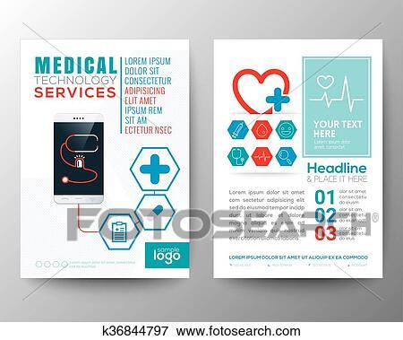 clip art of health care and medical poster brochure flyer design