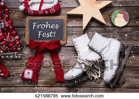 Auguri Buon Natale In Tedesco.Buon Natale Cartolina Auguri Con Tedesco Text Frohes Fest Archivio Fotografico K21588795 Fotosearch