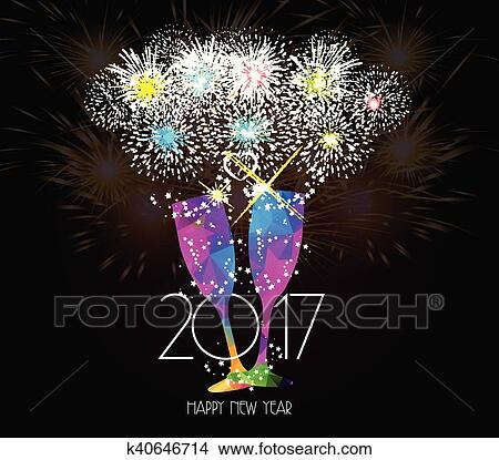 clipart new year champagne toast 2017 fotosearch search clip art illustration murals