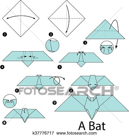 How to Fold an Easy Origami Bat | 470x445