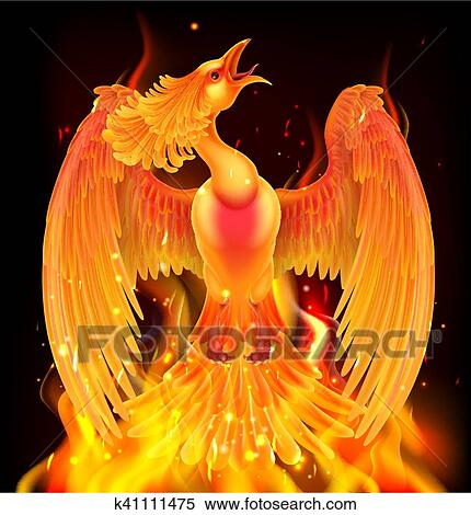 Phoenix Bird Rising From Ashes Clipart K41111475 Fotosearch