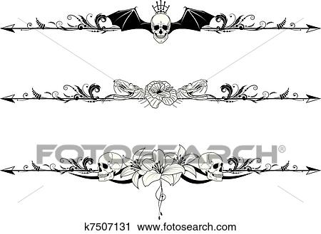 clipart of set of gothic borders k7507131 search clip art rh fotosearch com gothic cross clipart clipart gothic windows