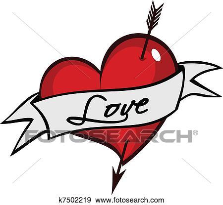 clipart - tatouage, coeur k7502219 - recherchez des cliparts, des