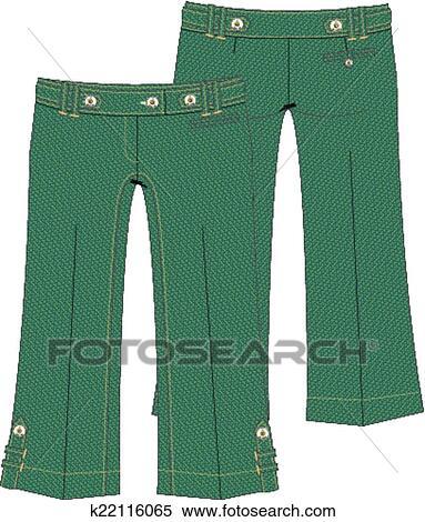 d6cbcad2606cd Clipart womens capri denim jeans fotosearch search clip art illustration  murals jpg 383x470 Capri pants clipart