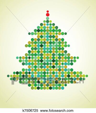 Clipart - Xmas background with pixel Christmas tree. Fotosearch - Search Clip Art, Illustration