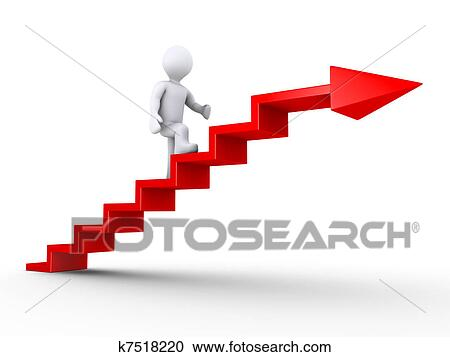 Climbing Stairs Of Success Clipart