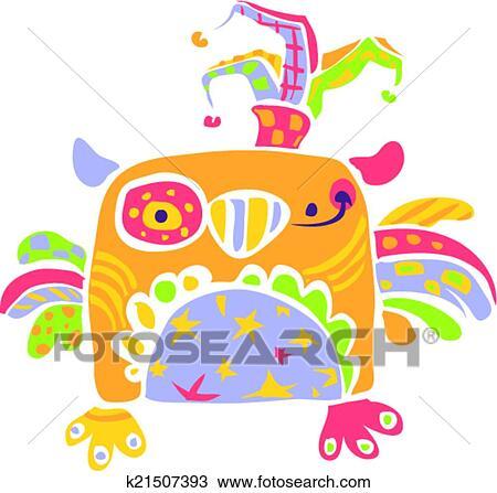 Coloridos Feliz Cute Pequeno Coruja Desenho Em Criancas