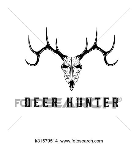 Deer Skull Vector Design Template Clipart K31579514
