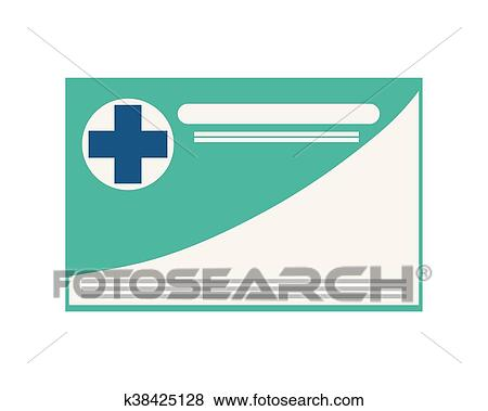 clip art medical insurance card icon fotosearch search clipart illustration posters